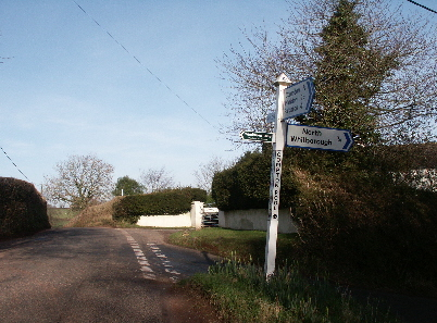 Compton Pool .. showing Compton Pool Cross where the road ahead leads out of the Parish of Marldon towards Ipplepen via Bulleigh