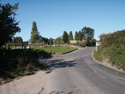 Bulleigh .. the present-day junction at Bulleigh Cross, the northern end of the Parish of Marldon