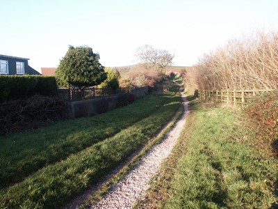 Area-F .. present-day photograph of the old ring road, made redundant by a road improvement scheme and now popular with dog walkers