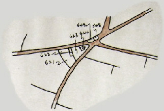 Five Lanes .. outlying dwellings