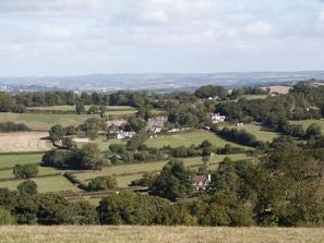 Area-G .. present day panorama of the outskirts of Marldon Village and Westerland from Beacon Hill