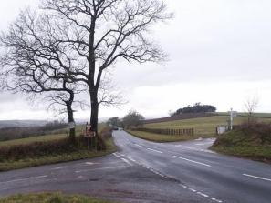 Area-G .. a present day view into the Parish of Berry Pomeroy from Glazegate Cross at the south-west edge of the Parish of Marldon