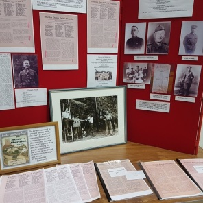 Part of the History Group 'Wartime Memories' display