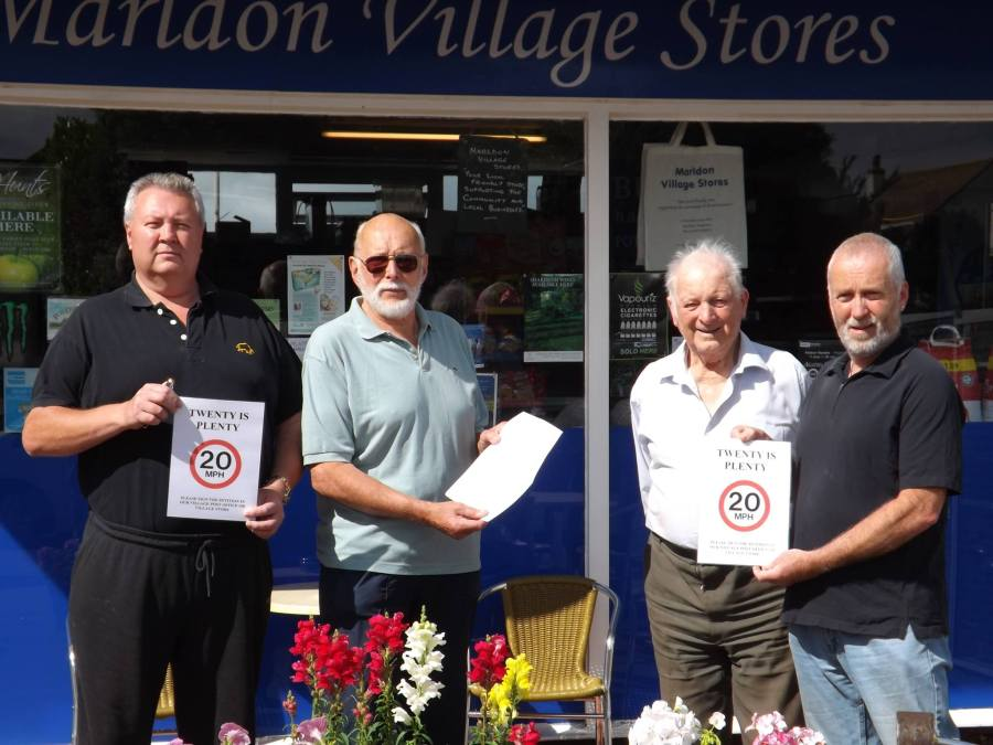 Frank in his role as Parish Councillor, supporting the organisers of the Village '20-is-Plenty' movement