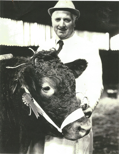 Frank and one of his prize bulls